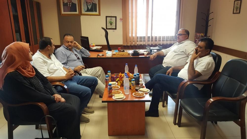 زيارة وفد من مجلس خدمات الشعراوية الى بلدية علار