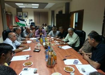 اجتماع مع البلديات المشاركة في مشروع عنقود علار