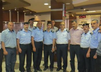 زيارة مدير شرطة طولكرم وقيادة اركان الشرطة الى بلدية علار