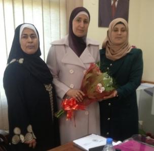زيارة لمديرة التربية والتعليم في محافظة طولكرم